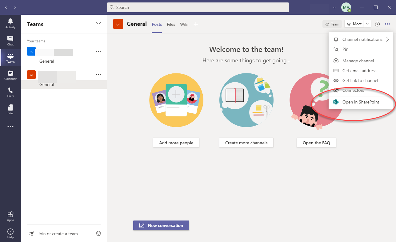 Microsoft Teams Support for your first SharePoint Site