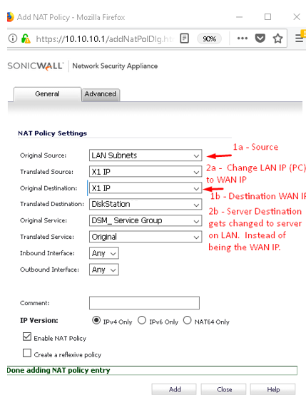 Sonicwall Port Forwarding and LAN WAN Rules Basics - Network