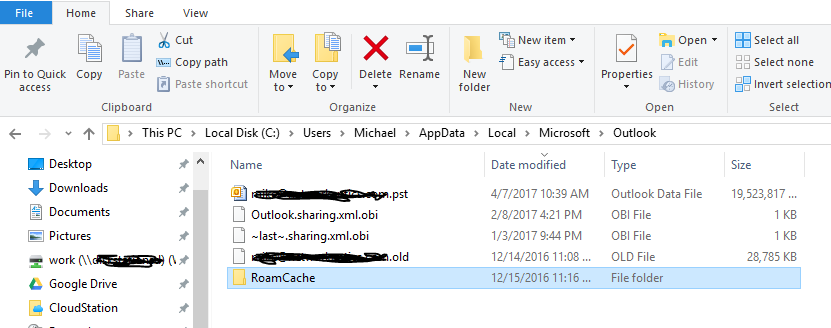 Outlook PST Path