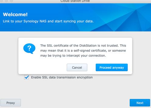 CloudStation Drive Certificate