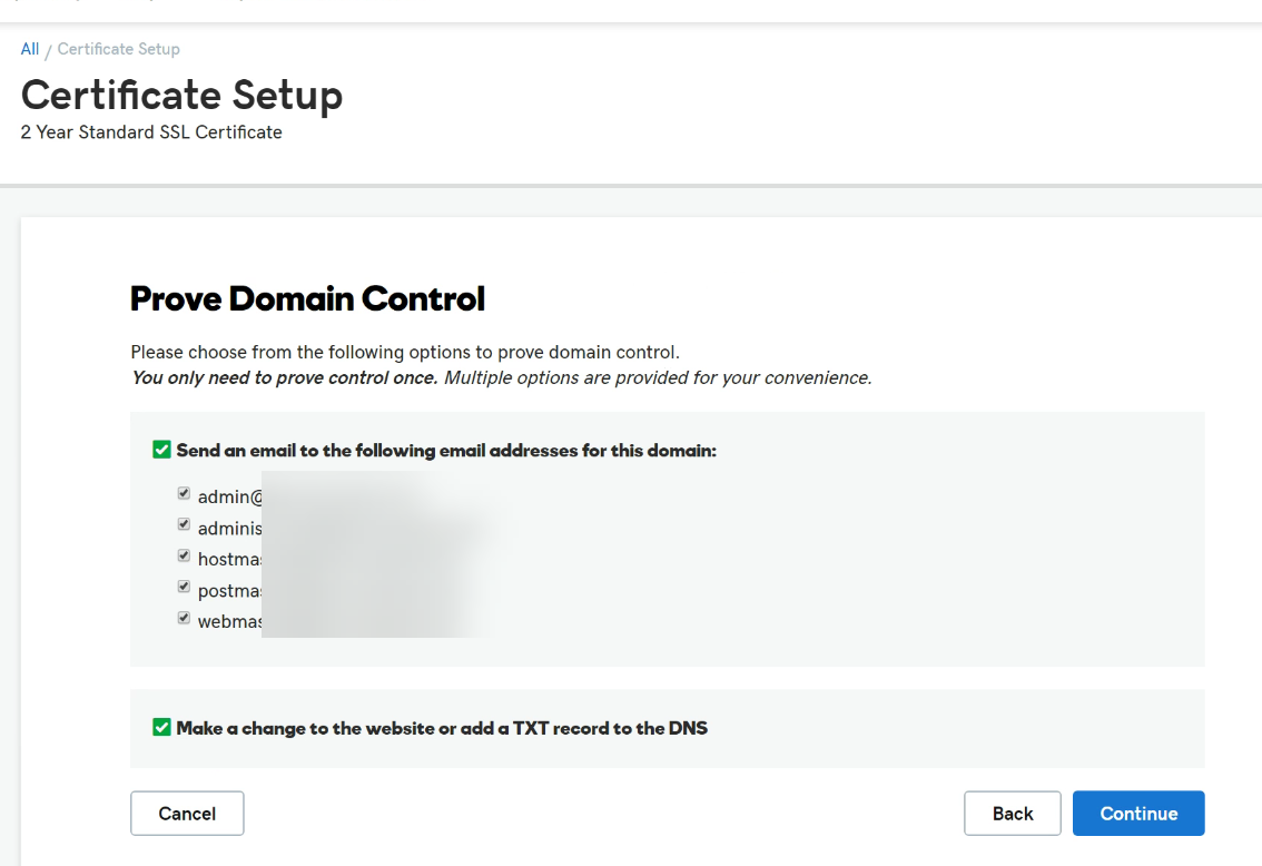 make sure it has the correct common name you inserted at the creation of the CSR on the Synology