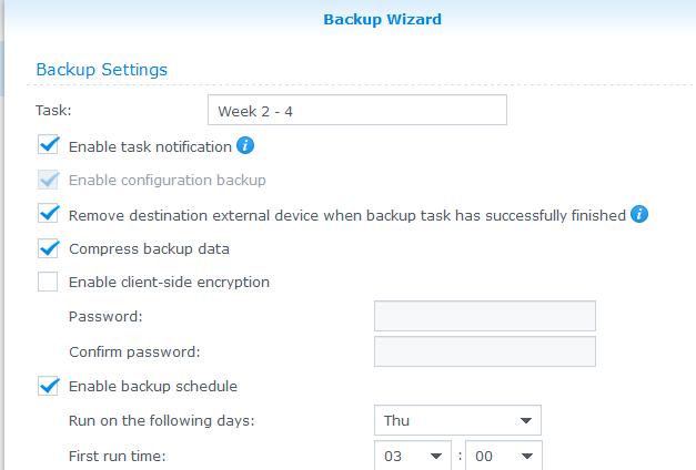 Data Backup Support