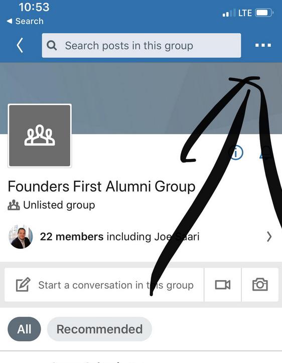 Linkedin Phone App Group Notifications
