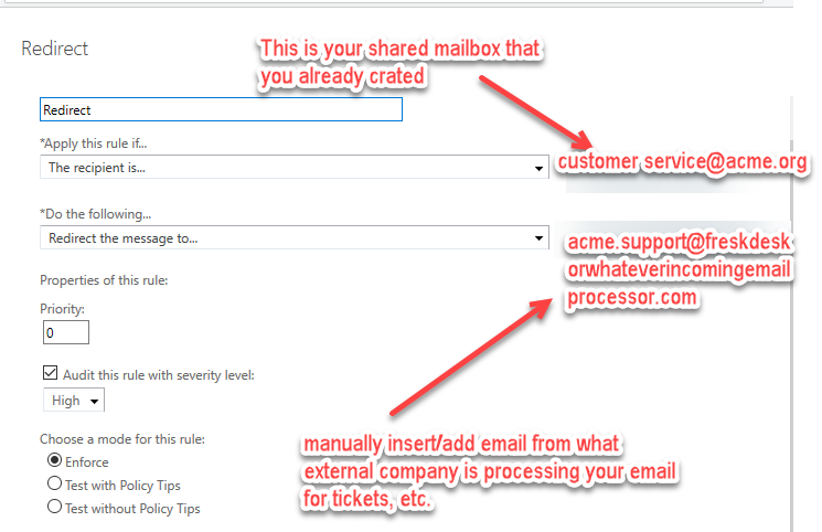 Office 365 Mail flow & shared mailboxes