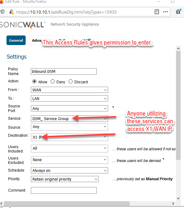Sonicwall Port Forwarding