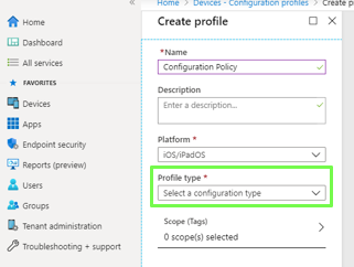 Microsoft Intune Device Configuration Profiles core feature is Bitlocker