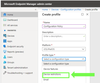 Microsoft Intune Device Configuration Profiles core feature is Bitlocker