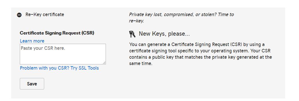 SSL Certificate ReyKey