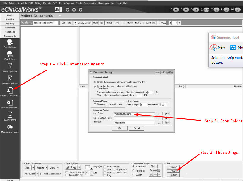 eclinical scanning and fax support
