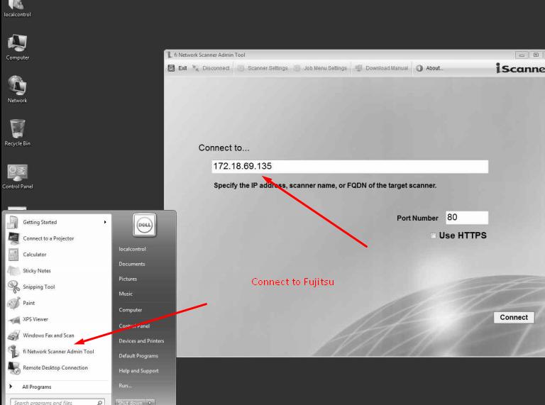 Fujitsu N7100 Network Scanner Support