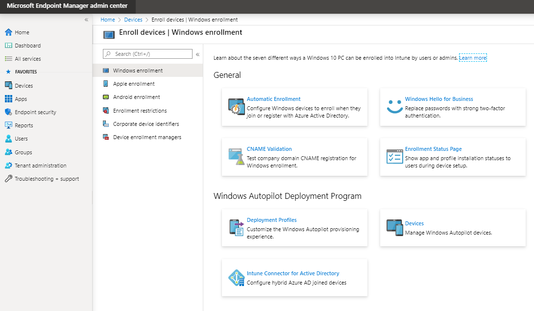 Intune Support Guide for Mobile Device Management